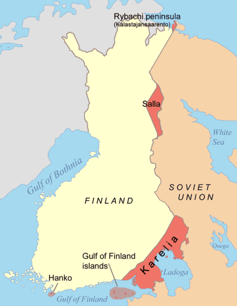 Finland's concessions in the Winter War.