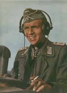 Peter Frantz as a StuG commander.