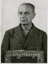 Schlegelberger (aged 71) at the Nuremberg Judges' Trial.