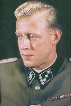 Otto Günsche as an SS-Hauptsturmführer.