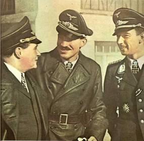 From left to right: Ernst Udet, Adolf Galland and Werner Mölders.