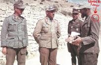 Fritz Bayerlein (center) with Fritz Moosmüller (right).