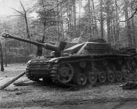 German StuG III Ausf. G, captured in the woods near Kiev.