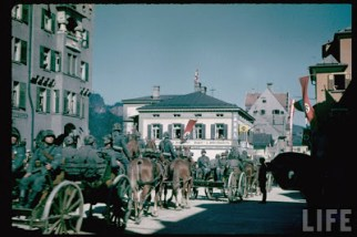 German Troops in Kufstein, Vienna, during the Austrian Anschluss.