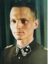 Hans Pfeiffer as an SS-Hauptsturmführer.