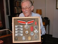 Hauptmann Bodo Spranz and his medals.