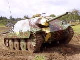 German Jagdpanzer 38(t) tank destroyer.