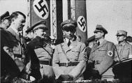 The architects of the purge: Hitler, Göring, Goebbels, and Hess. Only Himmler and Heydrich are missing.