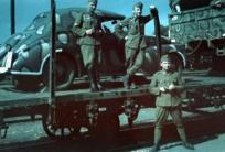 Hungarian soldiers with Opel Kapitän.