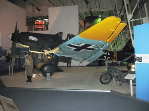 Junkers Ju 87 Stuka on display in the Battle of Britain Hall.