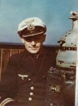 Oberleutnant zur See Hans Karpf onboard the U-632.