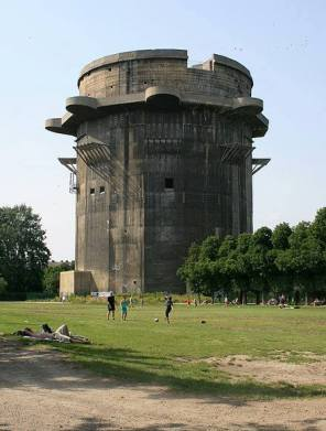 Remains of a Flak Tower in Vienna, Austria.