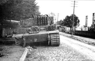 Knocked out Tiger 1 on the Eastern Front 1944.