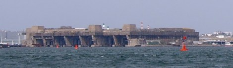 The German submarine base in Lorient.