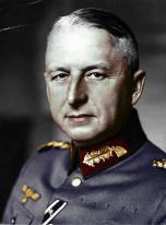 Colorized image of Erich von Manstein.