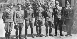 Schröer, Ehrler, Prinz zur Lippe-Weißenfeld, Lent, Meurer, Kirschner and Weissenberger (right) at Rastenburg.