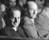 Ohlendorf (left) with Heinz Jost.