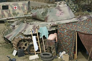 """Panther Tank Number 425 is in private ownership and is often seen at military vehicle events in the summer in Britain like the annual """"War and Peace"""" Show in Folkestone."""