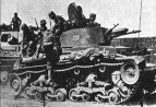 Panzertruppen of the 6th Panzer Division board Panzerkampfwagen 35(t)s during Operation Barbarossa.