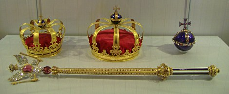 The Prussian Crown Jewels, Charlottenburg Palace, Berlin.