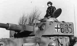 Panzer IV of 12th SS-Division Hitlerjugend on the Western front 1943.