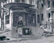 Panzer IV turret, Berlin ruins 1945.