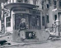 Panzer IV turret, Berlin ruins 1945.