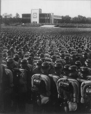 SS-VT in full marching order, 1935.