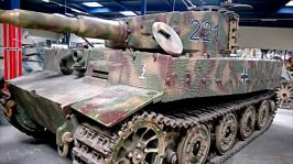 Tiger I Ausf. E Heavy Tank panzerkampfwagen VI, French Tank Museum in Saumur in the Loire Valley.