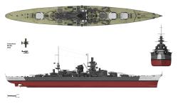 Scharnhorst in her 1943 configuration.