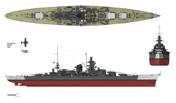 Scharnhorst in her 1943 configuration.