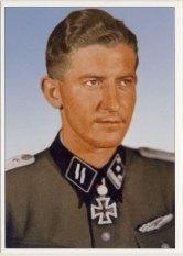 Walter Schmidt as SS-Hauptsturmführer.