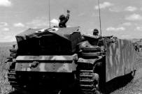 StuG III, Ausf G belonging to the 1. SS-Panzer-Division Leibstandarte in the area of Orel, July 1943 during the Battle of Kursk.