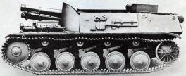Sturmpanzer II Bison, side view of the prototype.