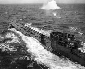 U-848 under attack by a US Navy Consolidated PB4Y-1 in November 1943.