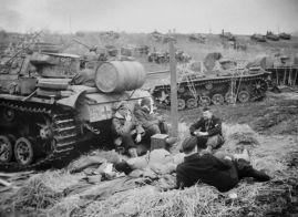 SS crews resting near their Panzer III's.
