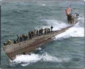 The captured German Submarine U-505 (Type IXC).