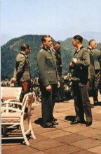 Otto Günsche (center) in the Berghof.