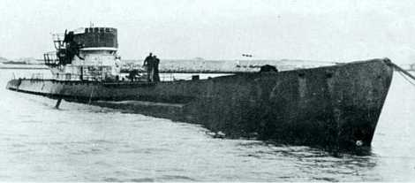 U-530 after her surrender at Mar del Plata Naval Base.