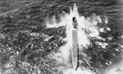 U-71 under attack on 5 June 1942 from a Sunderland of No. 10 Squadron RAAF.