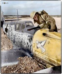 Unteroffizier Arno Zimmermann crash-landed on the beach at Lydd in Kent, South England.