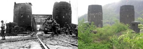 In early March 1945, the Ludendorff Bridge at Remagen was one of only two remaining bridges across the River Rhine in Germany. The Germans tried to destroy the bridge when they came under attack by an American force but the demolition failed to destroy it. The Americans were able to capture it intact and cross the Rhine river, the daunting but last major obstacle in Germany.