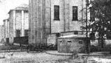 German bunker in front of National Museum in Aleje Jerozolimskie. July 1944.
