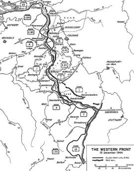 Situation on the Western Front as of 15 December 1944.