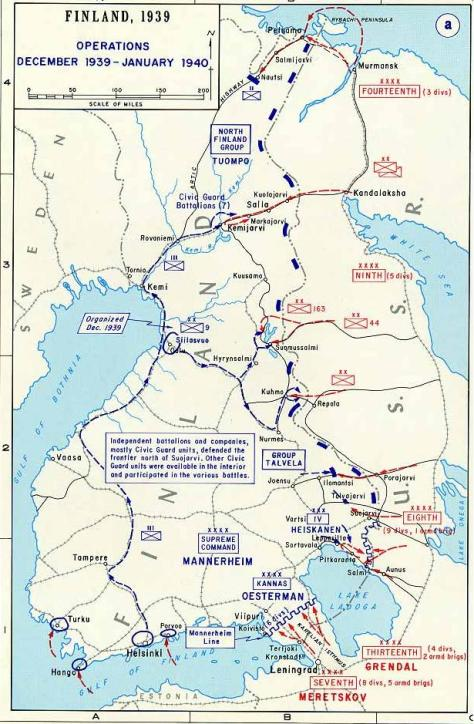 First phase of the winter war.