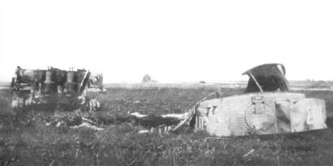 Michael Wittmann's destroyed Tiger 1.