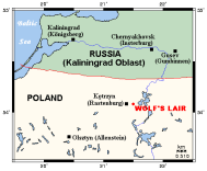 Location within present-day borders of the Wolf's Lair.