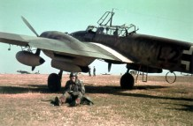 Waiting for the order to take off in Russia in the spring of 1942 of the Messerschmitt Bf 110.