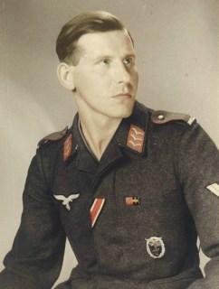 Luftwaffe Flak mann with Ground Assault Badge.