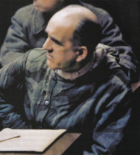 SS-Obergruppenführer Oswald Pohl as an accused in trial, maybe in Landsberg.